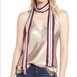 Kate Spade Geo Stripe Skinny Silk Scarf